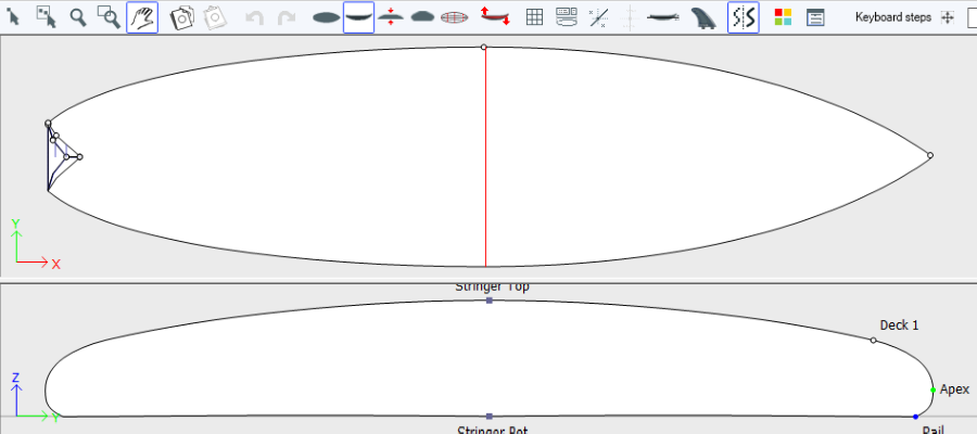 Shape3d surfboard design software for Making a surfboard template