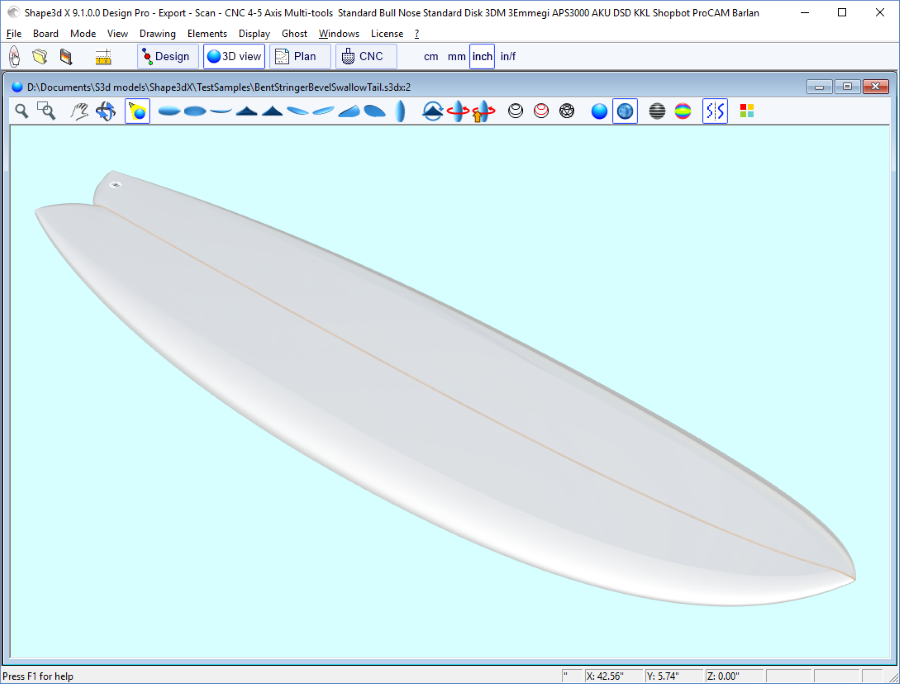 Shape3d : Surfboard Design Software