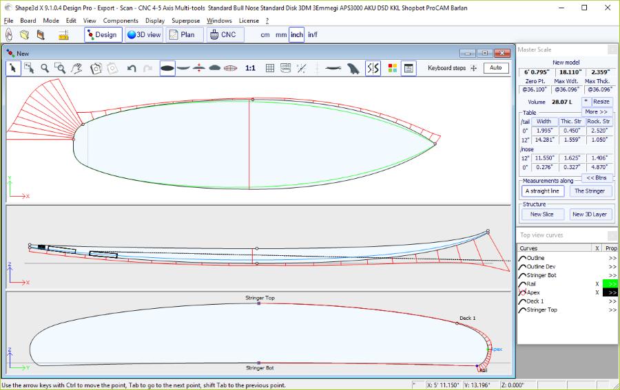 Shape3d : Surfboard Design Software